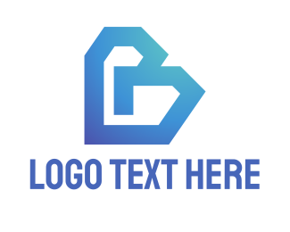 Plastic - Blue Letter B logo design