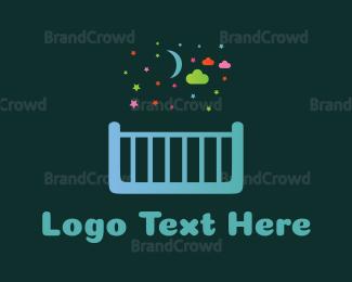 Bed - Childhood Dreams logo design