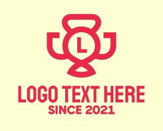 Prize - Fitness Champion Trophy Lettermark logo design
