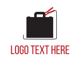Charge - Jump Start Business logo design