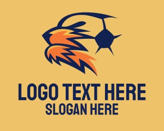 Soccer Team - Soccer Lioness Mascot  logo design
