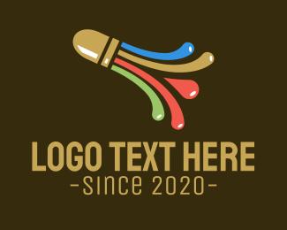 Shuttlecock - Colorful Shuttlecock  logo design