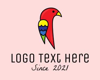 Macaw - Wild Parrot Bird logo design