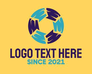 Running - Abstract Running Circle logo design