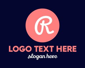 Classy - Pink R Circle logo design