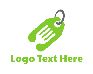 Fork - Green Tag Fork logo design