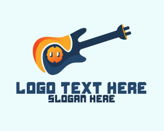 Chord - Electric Guitar logo design