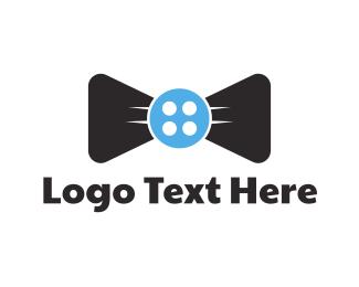 Seamstress - Button Tie logo design