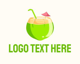 Fresh Fruit - Fresh Coconut Juice logo design