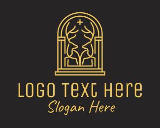 Architecture - Golden Deer Gate logo design