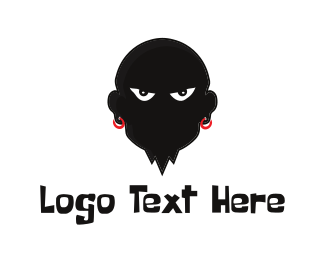 Bad - Evil Man logo design