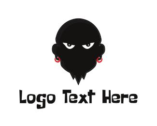 Bad - Evil Man logo design