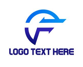 Fiberglass - Blue F Gaming logo design