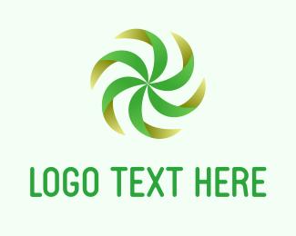 Turn - Green Fan logo design