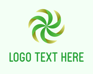Spin - Green Fan logo design