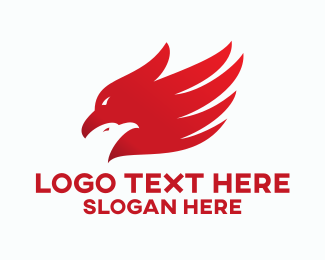 Red Hawk - Bird Hand logo design