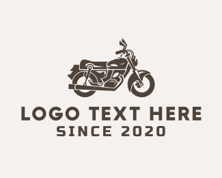 Motorcycle Dealer - Brown Motorbike logo design