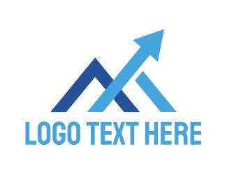 Blue Arrow - Blue M Arrow logo design