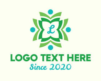 Initial - Wreath Lettermark logo design