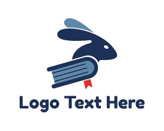 Phd - Rabbit Blue Book logo design