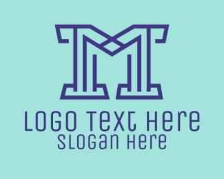 Digital Technology - Generic Letter M Property logo design