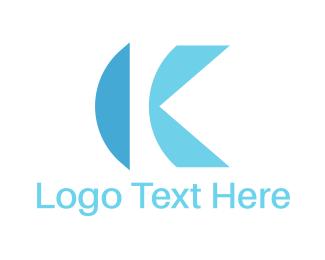 Letter K - Blue Letter K logo design