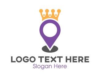 Route - King Maps logo design
