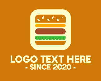 Food Vlogger - Burger App logo design