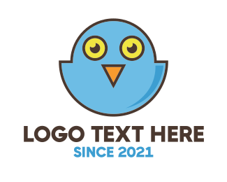 Social Media - Owl Bird Tweet logo design
