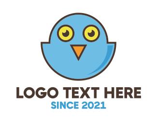 Twitter - Owl Bird Tweet logo design