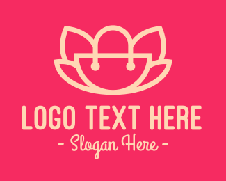Handbag - Lotus Handbag logo design