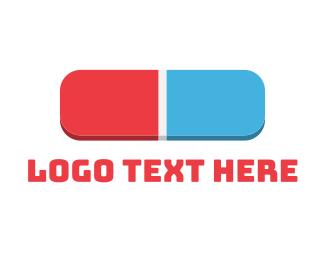 Stationery - 3D Eraser logo design