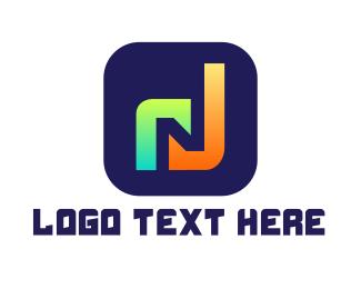 Phone App - Music App N logo design