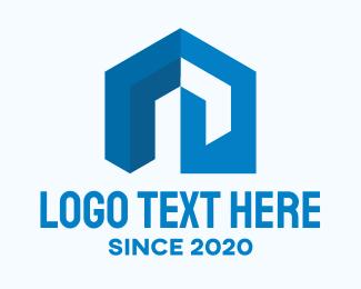 House Rental - Blue Housing Property logo design