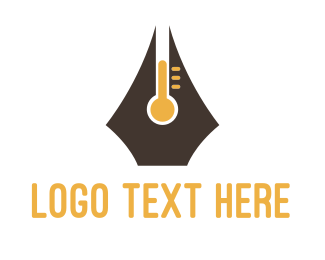 Heat - Pen Thermometer logo design