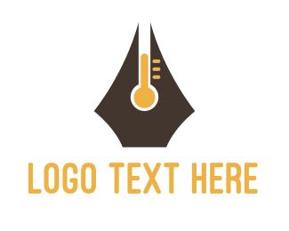 Degree - Pen Thermometer logo design