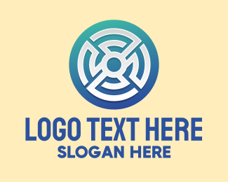 Brand - Circular Maze Pattern logo design