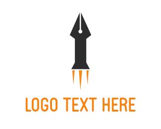 Publishing - Rocket Pen logo design