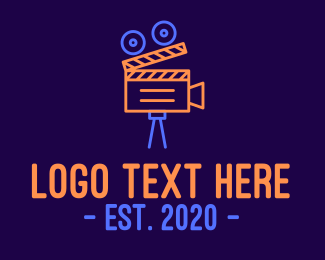 Popcorn - Neon Film Directing logo design
