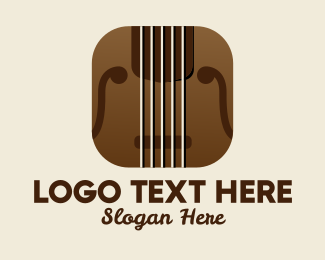 Strings - Violin Music App  logo design