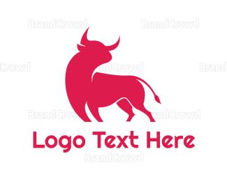 Toro - Abstract Red Bull  logo design