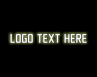 Metal - Glowing Game Text logo design