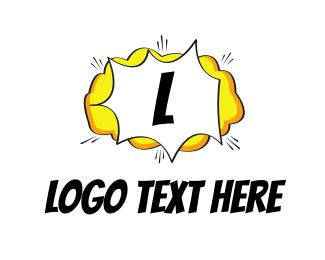 Boom - Comic Cloud logo design