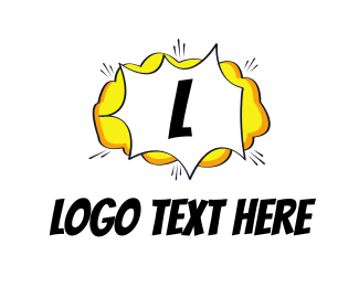 Explosion - Comic Cloud logo design