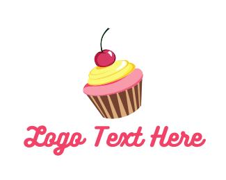 Cherry - Cupcake Cherry logo design