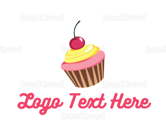 Bakeshop - Cupcake Cherry logo design
