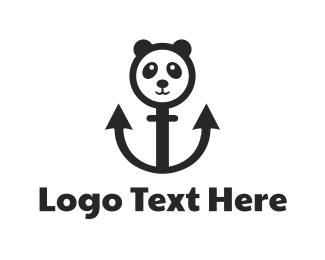Panda - Anchor Panda logo design