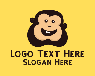 Monkey - Cute Monkey Face logo design
