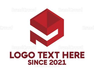 Blocks - Letter P Block logo design