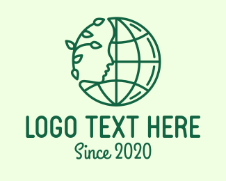 Global Warming - Green Mother Earth Conservation logo design